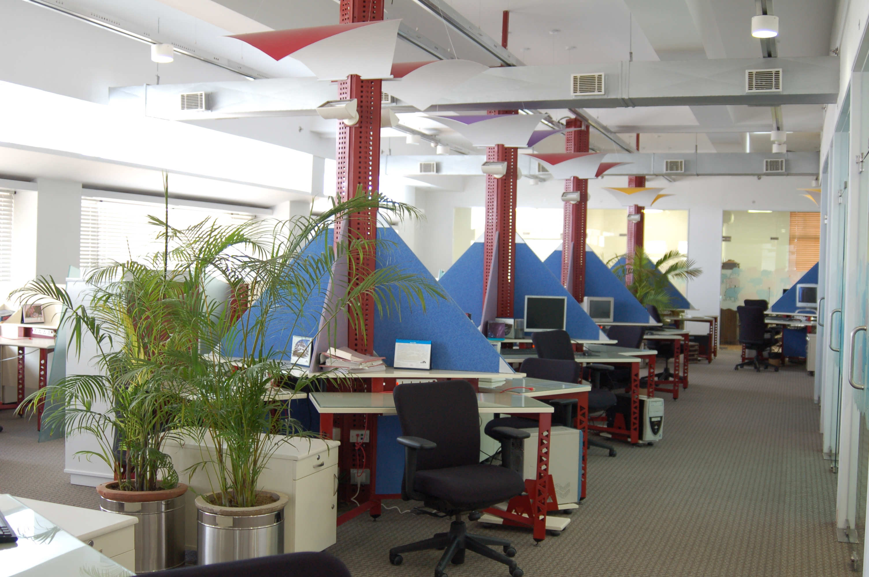 KLG Systel Office, Gurgaon, (2000); With recyclable interiors, the ...